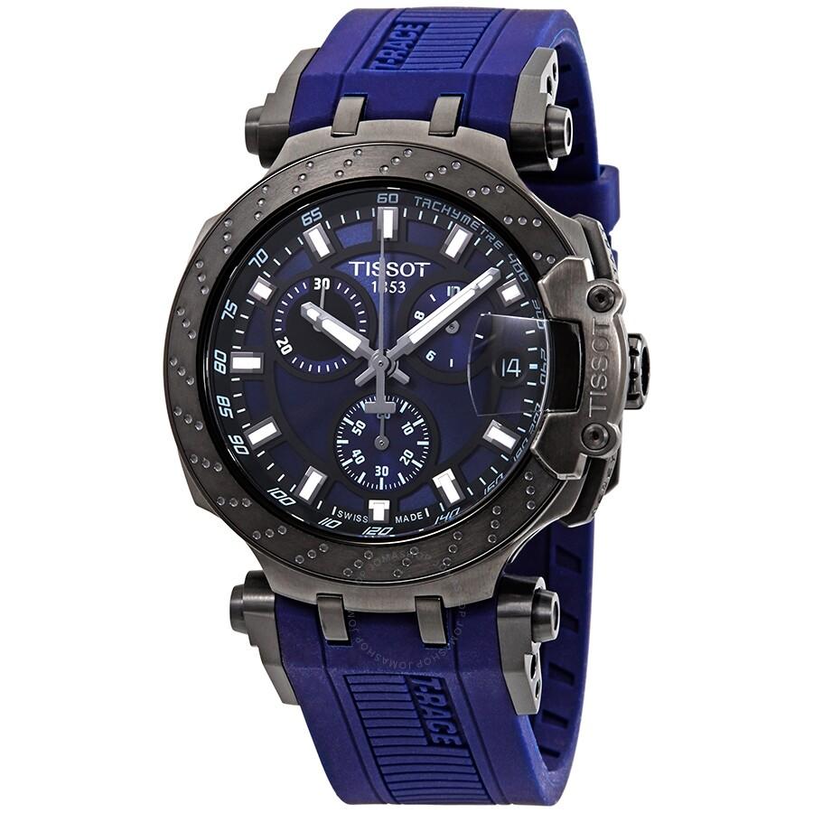 Tissot T Race Chronograph Quartz Blue Dial Men S Watch T1154173704100