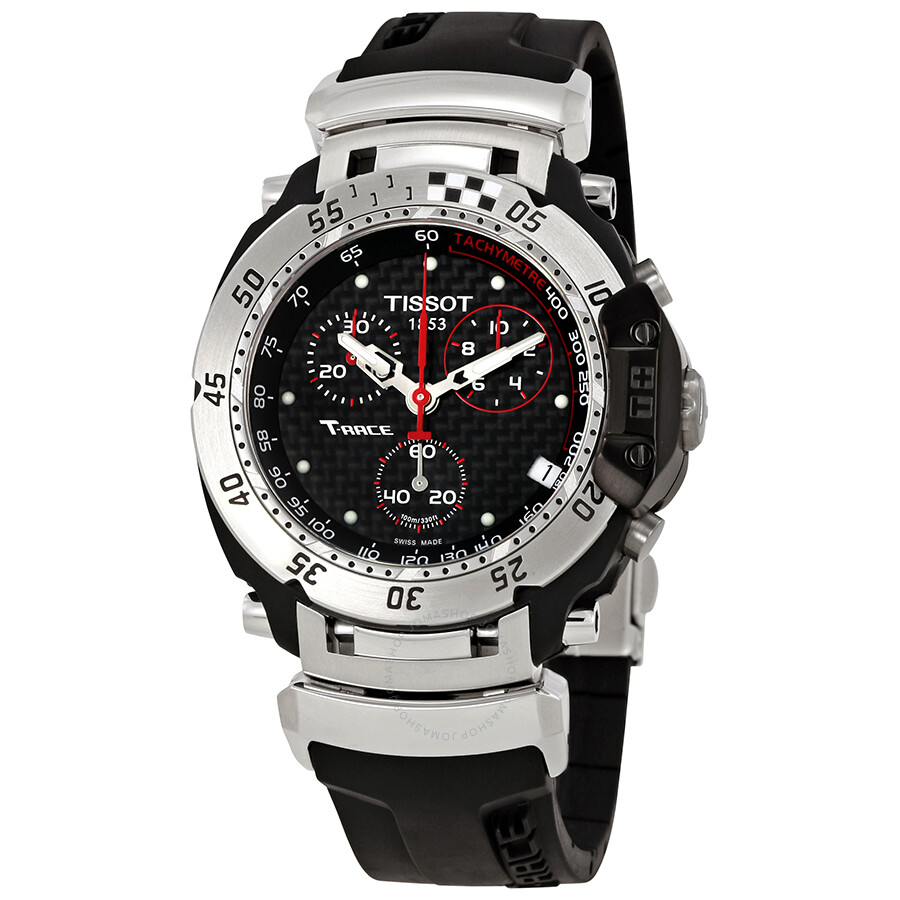tissot t race chronograph black dial men 39 s watch. Black Bedroom Furniture Sets. Home Design Ideas