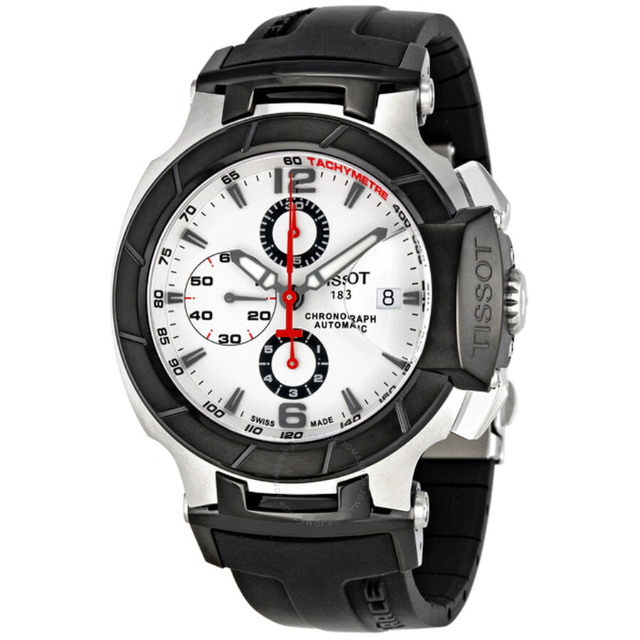 Tissot T Race Chronograph Black Rubber Strap Men S Watch