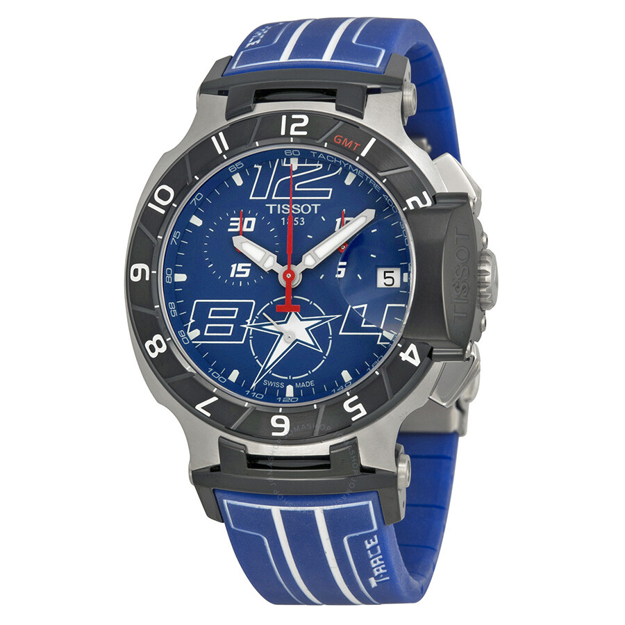 tissot t race chronograph blue dial men 39 s watch. Black Bedroom Furniture Sets. Home Design Ideas