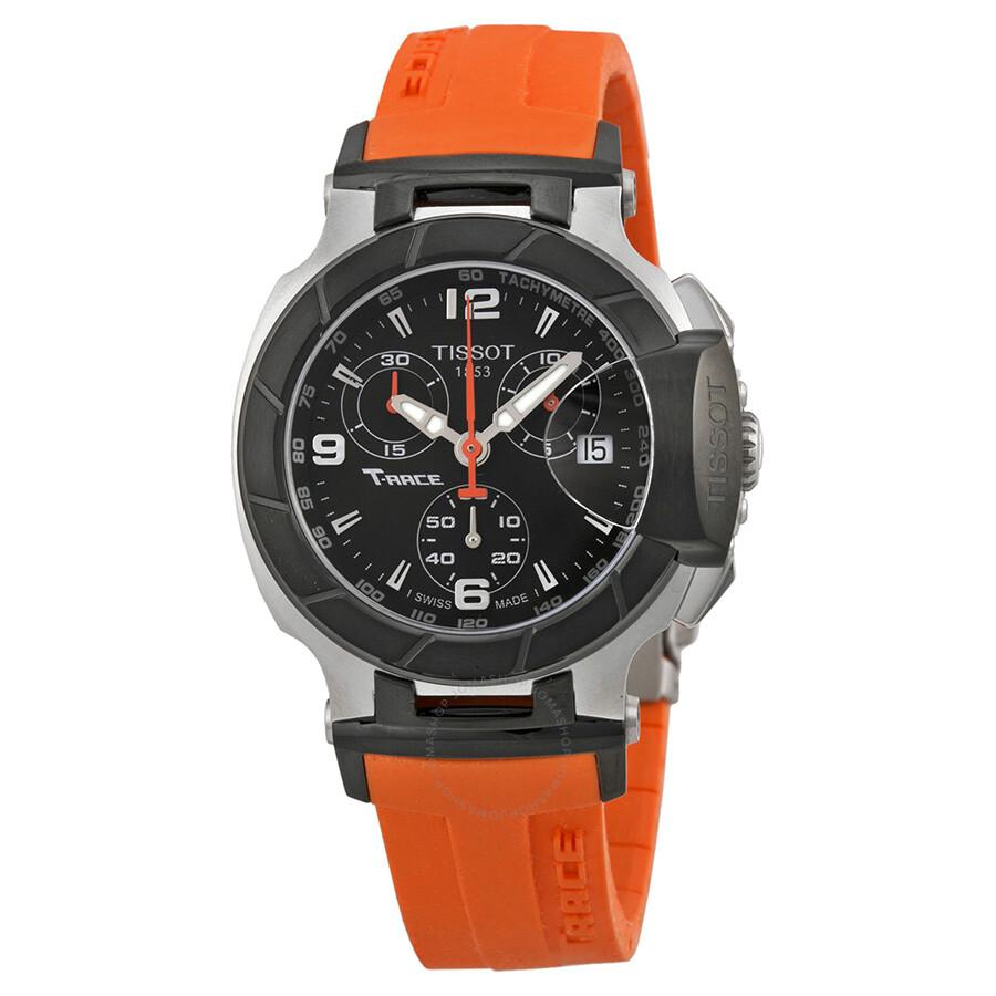 tissot t race chronograph orange silicone ladies watch. Black Bedroom Furniture Sets. Home Design Ideas