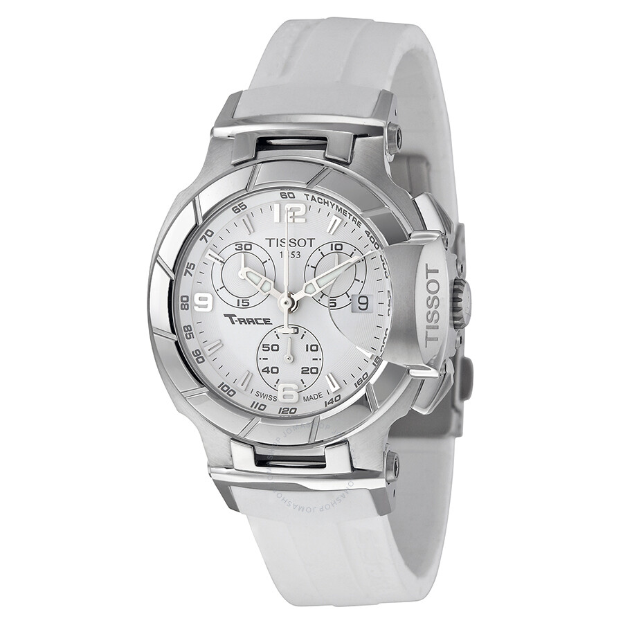 Tissot Watches For Women Ladies Stylis T T0282101105700 Trace Chronograph White Dial Watch