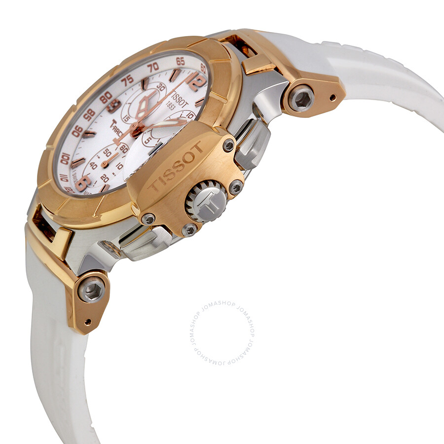 6f0eeb0ce ... Tissot T-Race Chronograph White Rubber Strap Ladies Watch  T0482172701700 ...