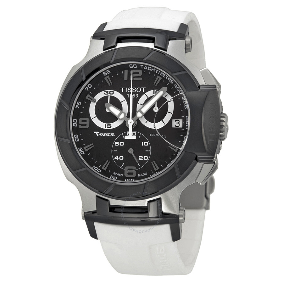 06a0f5522f8 Tissot T Race Chronograph White Rubber Strap Men's Watch T0484172705705  Item No. T048.417.27.057.05