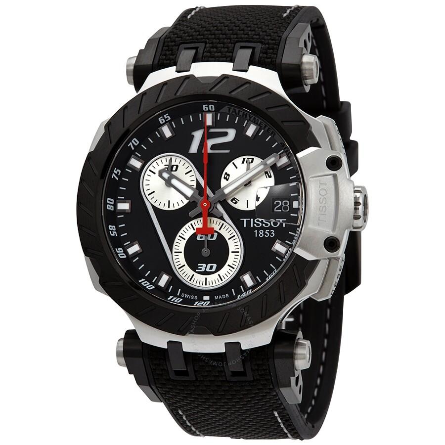 Tissot T Race MotoGP Limited Edition Uhr Jorge Lorenzo 2019 Herren Chronograph 43mm schwarz T115.417