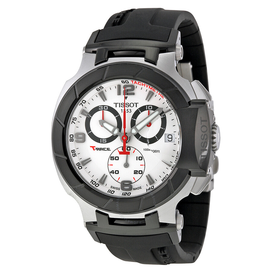 tissot t race white dial steel case men 39 s watch t race t sport tissot. Black Bedroom Furniture Sets. Home Design Ideas