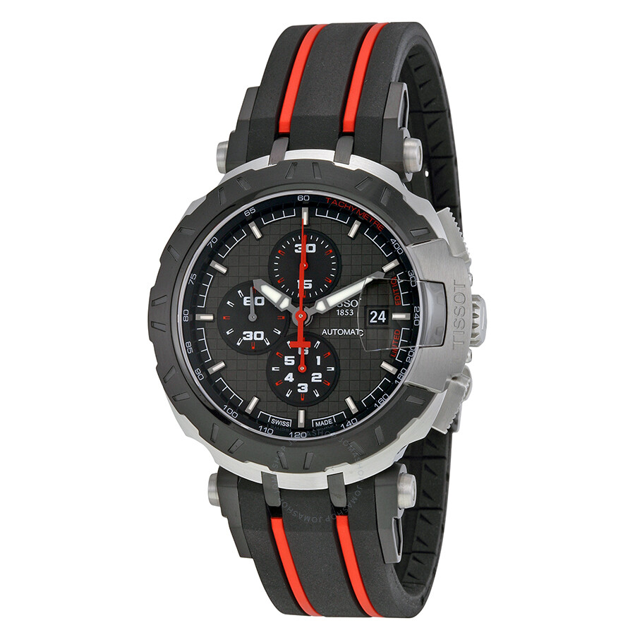 e262900ee44 Tissot T-Race MotoGP 2015 Automatic Anthracite Dial Black and Red Rubber  Band Men s Sports ...