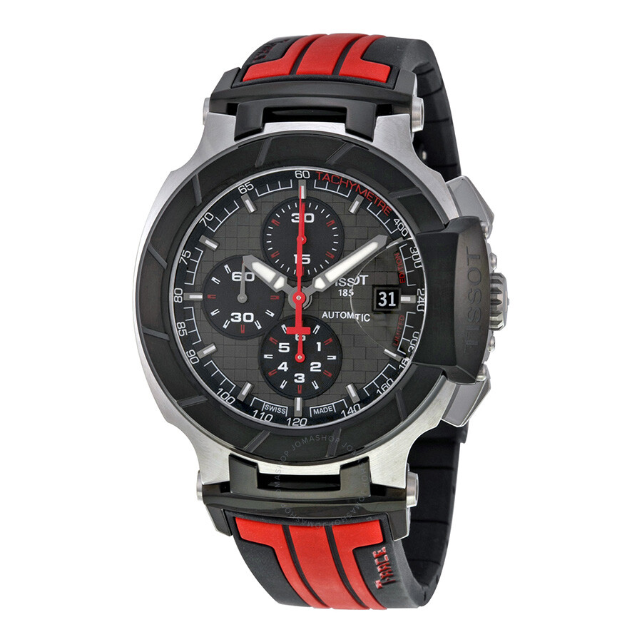 731ae8514 Tissot T-Race Motogp Chronograph Automatic Grey Dial Black and Red Rubber  Men's Watch T0484272706100 Item No. T048.427.27.061.00