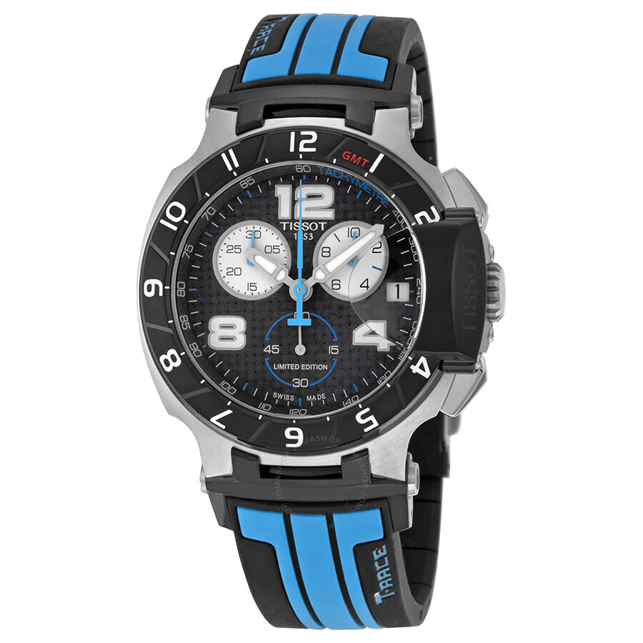 tissot t race motogp chronograph black dial black and blue. Black Bedroom Furniture Sets. Home Design Ideas