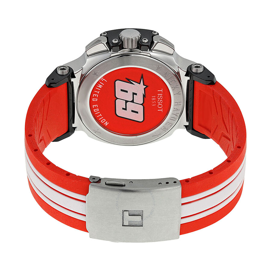 6b1f05c75f6 Tissot T-Race Nicky Hayden 2013 Limited Edition Chronograph White Dial Red  and White Rubber