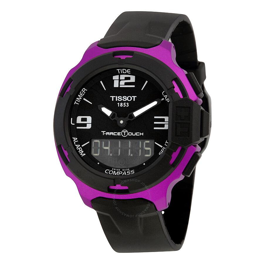 Tissot T-Race Touch Aluminium Black Dial Black-Purple Aluminium Case Black  Silicon Band ... bbe940e9fb