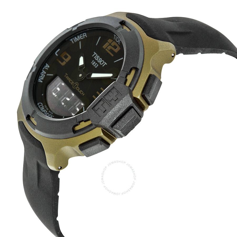 91e5f131d33 ... Tissot T-Race Touch Aluminium Black Dial Black Silicone Strap Men s  Sports Quartz Watch T0814209705706 ...