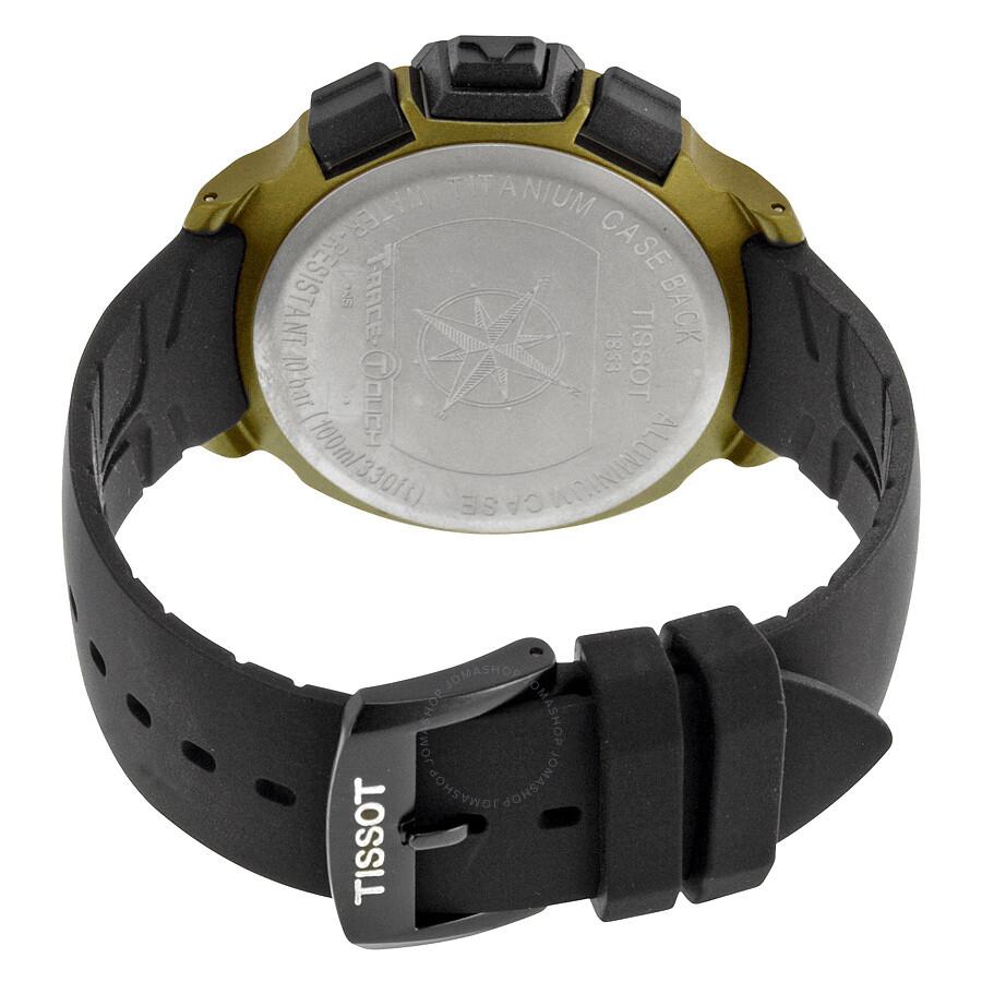 8ffd918ccbe ... Tissot T-Race Touch Aluminium Black Dial Black Silicone Strap Men s  Sports Quartz Watch T0814209705706