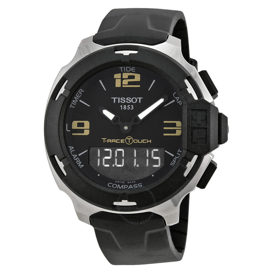 tissot t race touch analog digital dial black synthetic. Black Bedroom Furniture Sets. Home Design Ideas