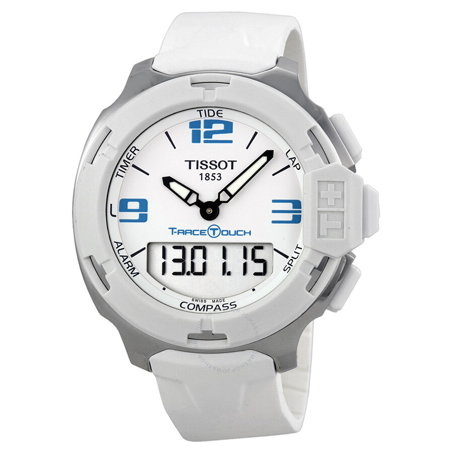 1d653c9ccce Tissot T-Race Touch White Analog Digital Dial White Synthetic Strap Unisex  Watch T0814201701701 ...
