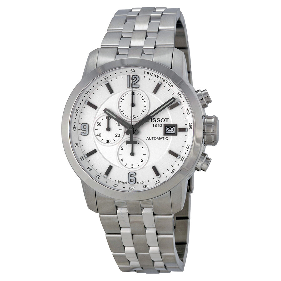 Tissot T-Sport PRC 200 Automatic Chronograph White Dial Stainless Steel  Men s Watch be31ce1be43