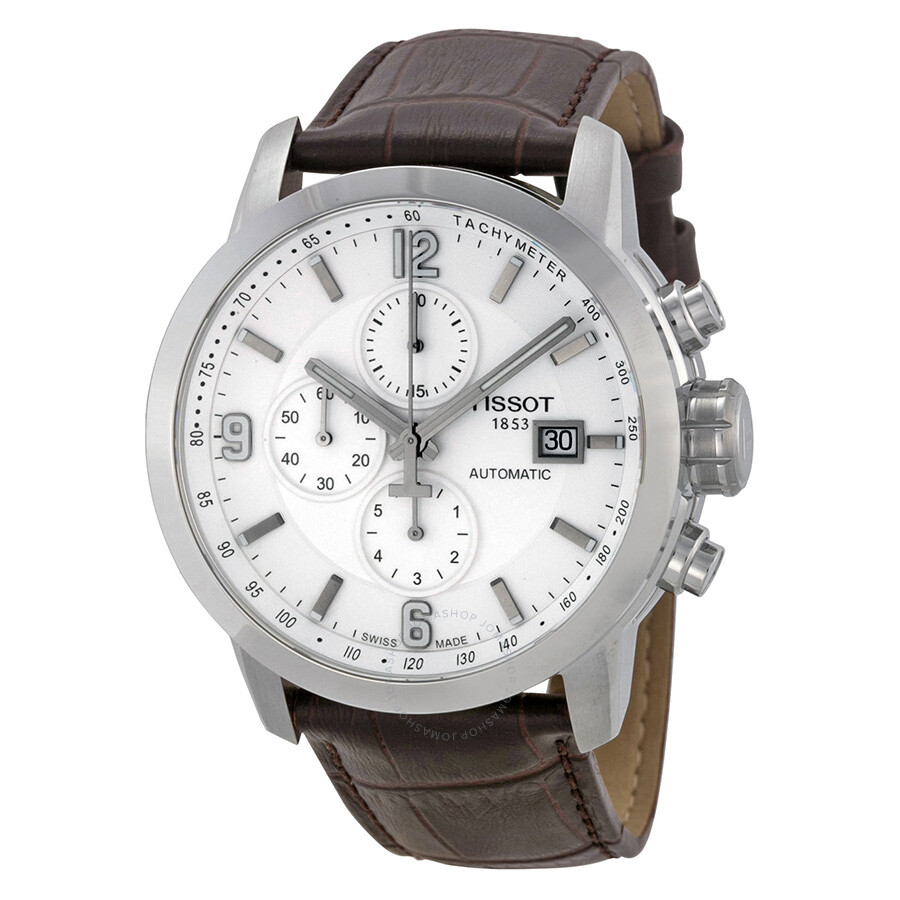 tissot t sport prc 200 chronograph white brown