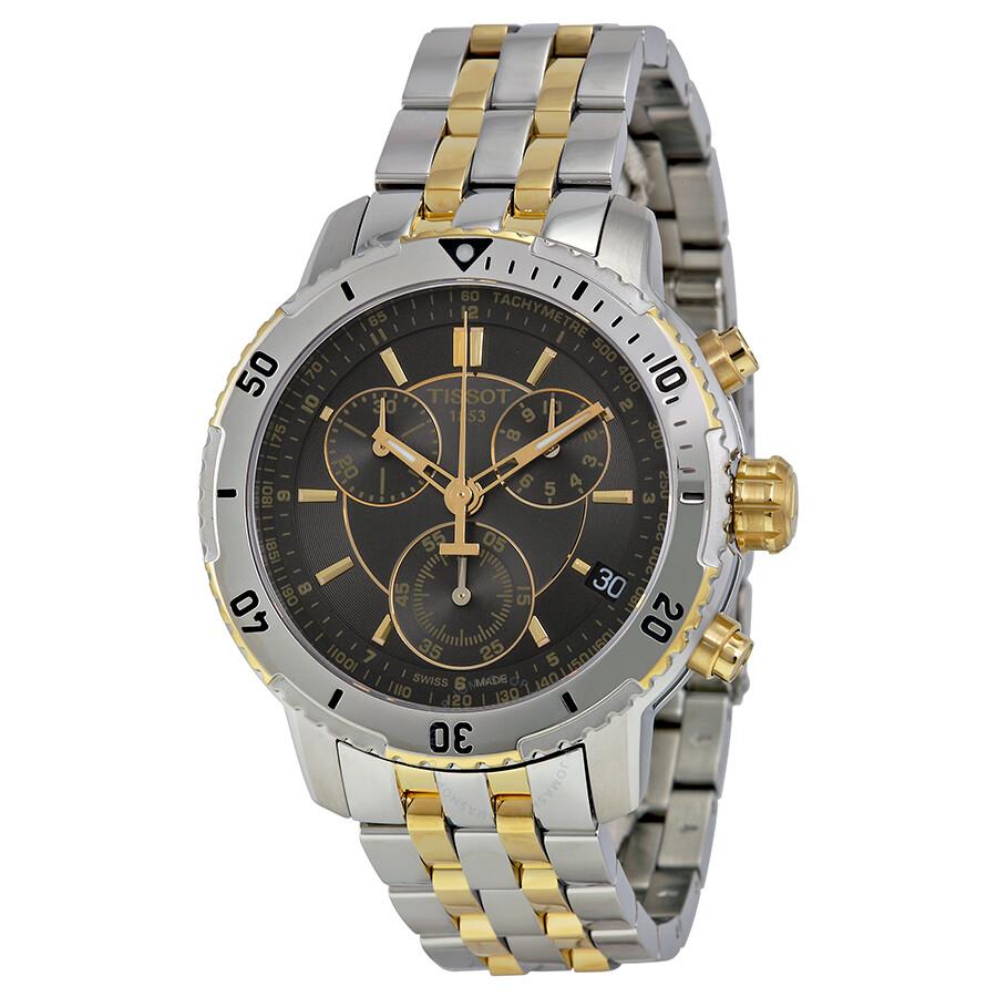 tissot t sport prs 200 chronograph black dial men 39 s watch. Black Bedroom Furniture Sets. Home Design Ideas
