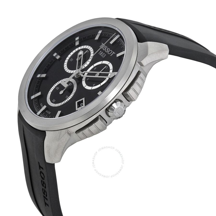 257531477 ... Tissot T-sport Titanium Black Dial Rubber Men's Watch T0694174705100 ...