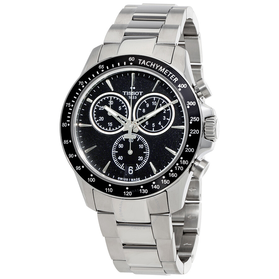 Tissot T-Sport V8 Black Dial Chronograph Men's Watch ...