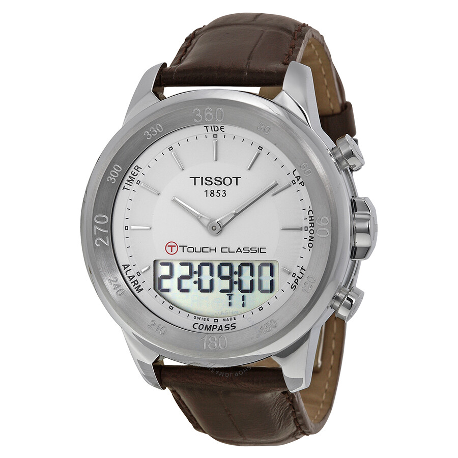 2ab54ecdc55c Tissot T-Touch Classic Touch Silver Dial Brown Leather Men s Watch  T0834201601100 Item No. T083.420.16.011.00