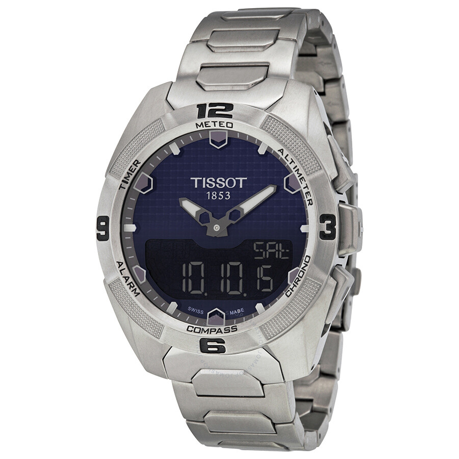 tissot t touch expert solar blue dial men 39 s watch. Black Bedroom Furniture Sets. Home Design Ideas