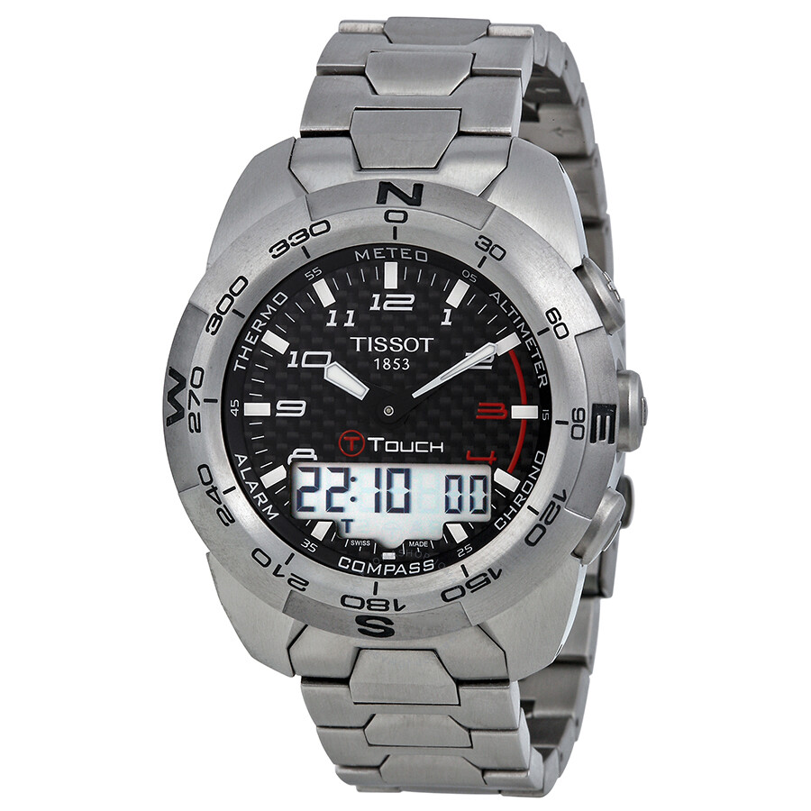 tissot t touch expert titanium analog digital men s watch