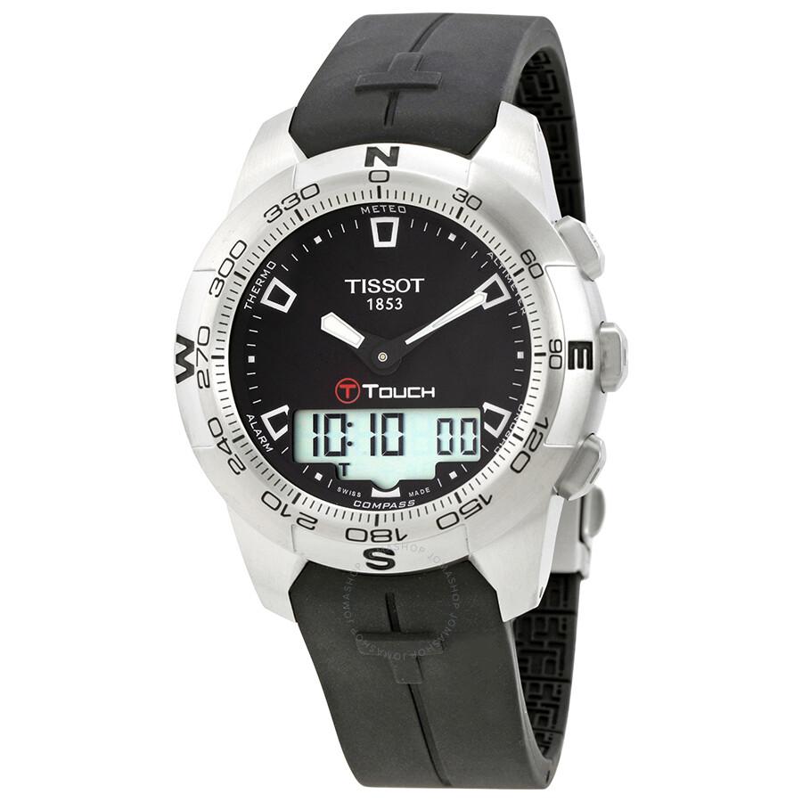 tissot t touch ii men s analog digital watch t0474201705100 t tissot t touch ii men s analog digital watch t0474201705100