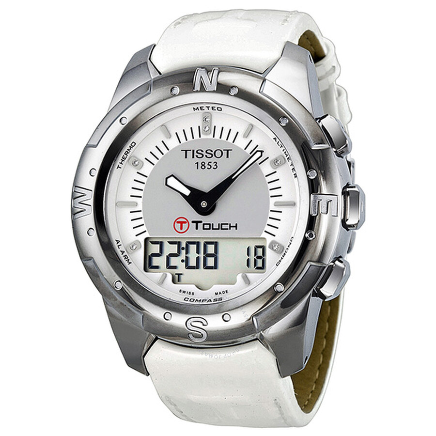 Tissot T-Touch II Multi-Function Silver Dial Titanium Ladies Watch  T047.220.46 ... 395700f4a