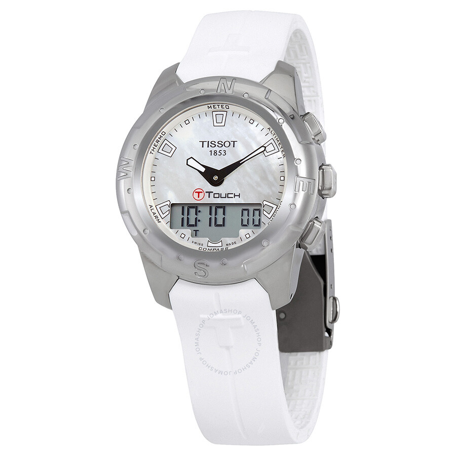 Tissot T-Touch II White Mother of Pearl Dial Ladies Watch T047.220.47. 9bdd3c566
