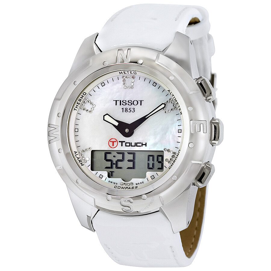 da172464a96 Tissot T-Touch II White Mother of Pearl Ladies Watch T0472204611600 Item  No. T047.220.46.116.00