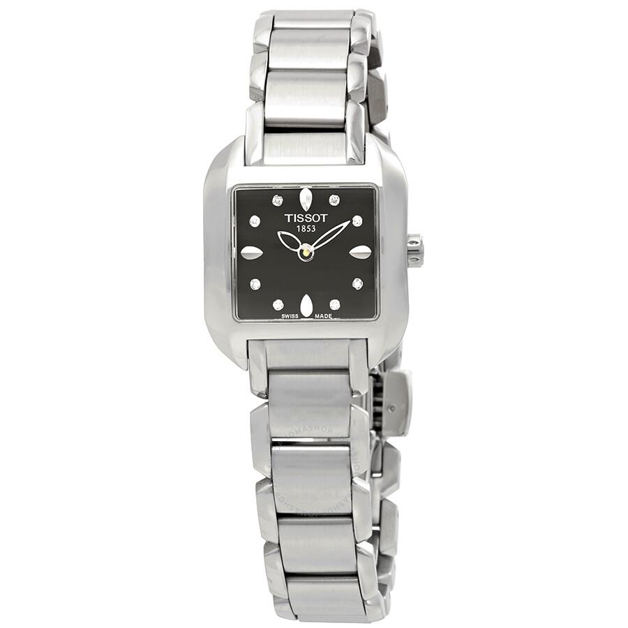 c85579e3b39 Tissot T-Wave Black Dial Ladies Watch T02.1.285.54 - T-Wave - T ...
