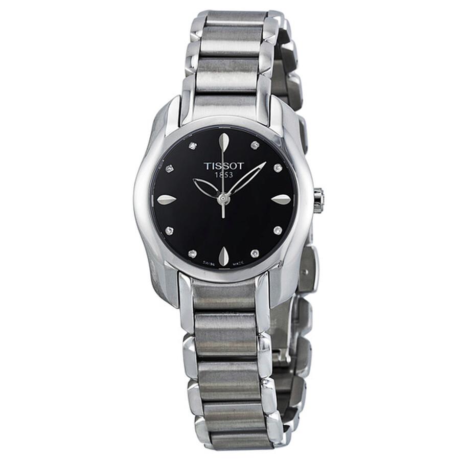 b0df72132d6 Tissot T-Wave Black Dial Ladies Watch T023.210.11.056.00 - T-Wave ...