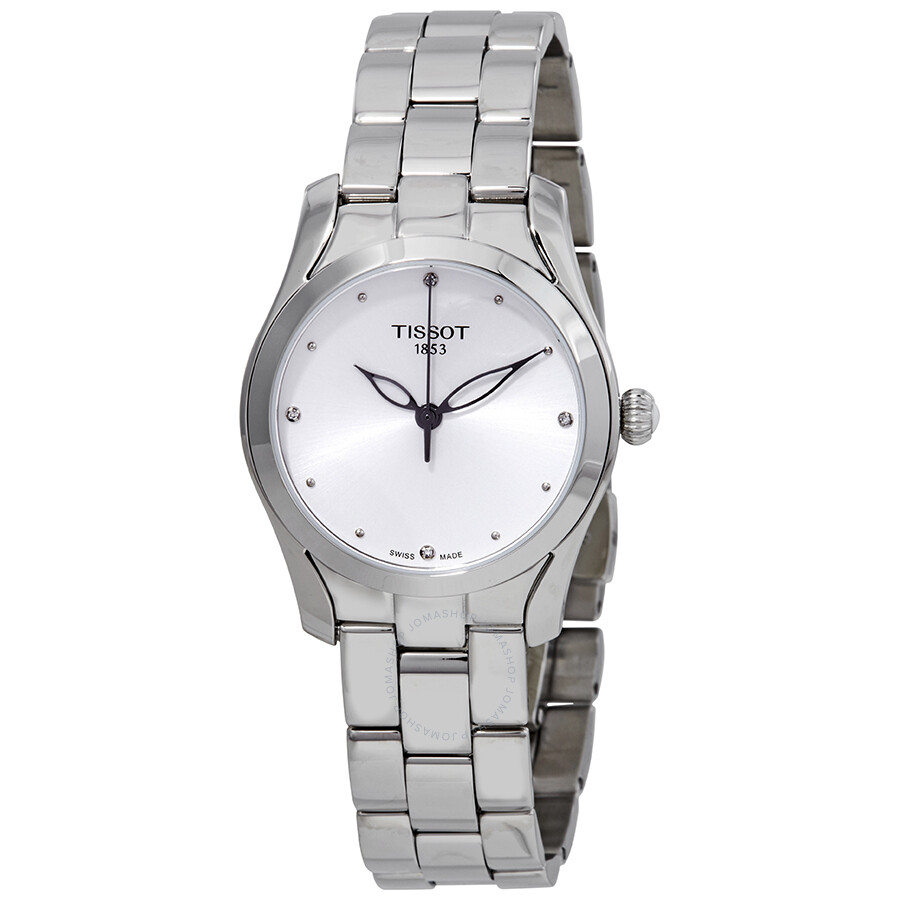 Tissot T Wave Diamond Silver Dial Ladies Watch T112 210 11 036 00