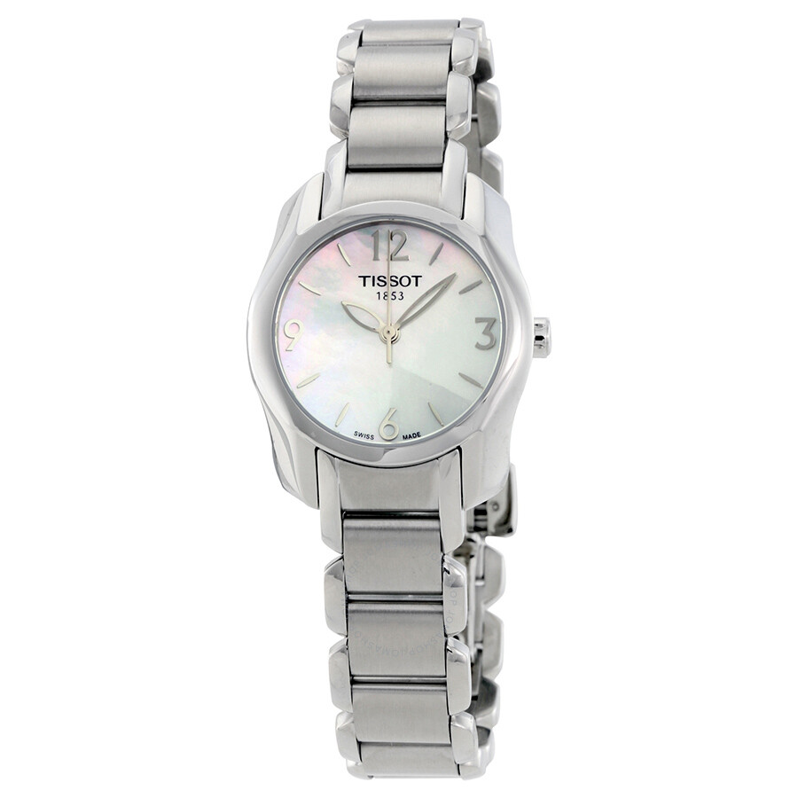 Tissot t wave mother of pearl dial ladies watch t0232101111700 t wave t trend tissot for Mother of pearl dial watch