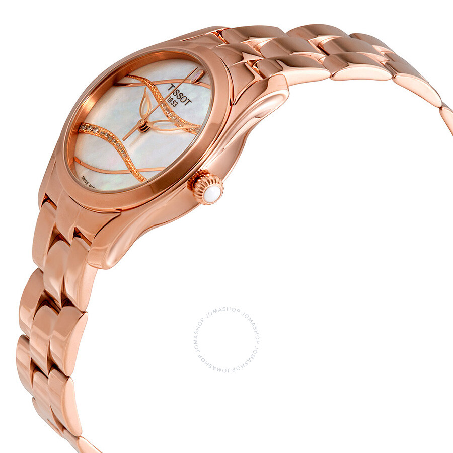 T-Wave Mother of Pearl Diamond Dial Ladies Watch T112.210.33.111.00