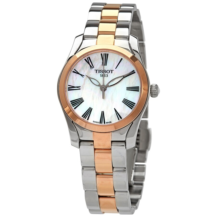 T Wave Quartz White Mother Of Pearl Dial Ladies Watch by Tissot