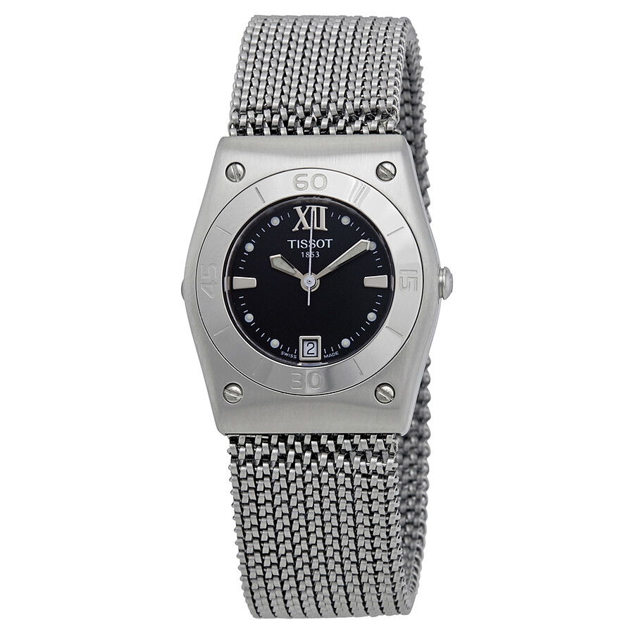 a90a92551d9 Tissot T-Win Black Mother of Pearl Dial Ladies Watch T08.1.187.53 ...