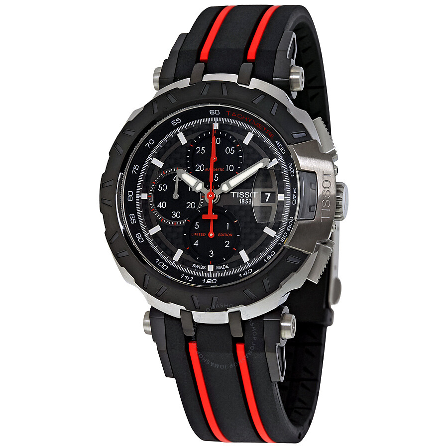 tissot t race moto gp black dial chronograph automatic men. Black Bedroom Furniture Sets. Home Design Ideas
