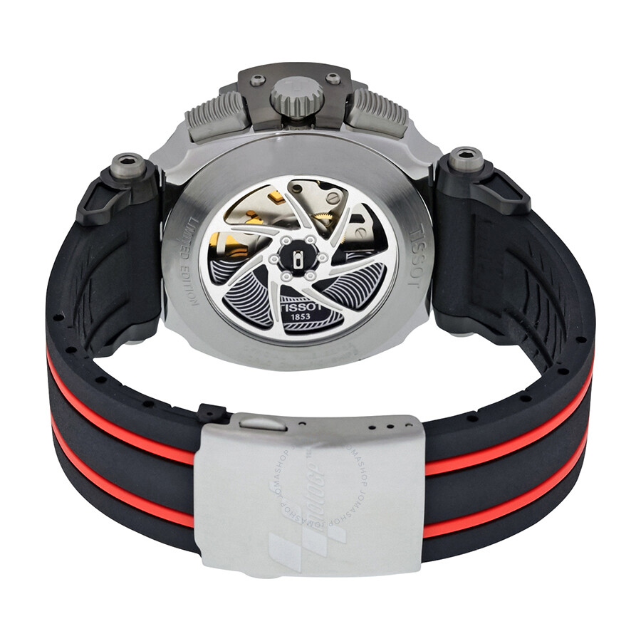 tissot t race moto gp black dial chronograph automatic men. Black Bedroom Furniture Sets. Home Design Ideas