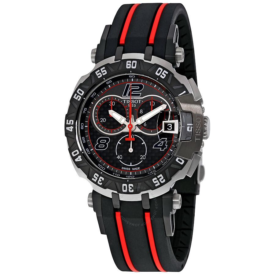 tissot t race moto gp black dial chronograph men 39 s watch. Black Bedroom Furniture Sets. Home Design Ideas