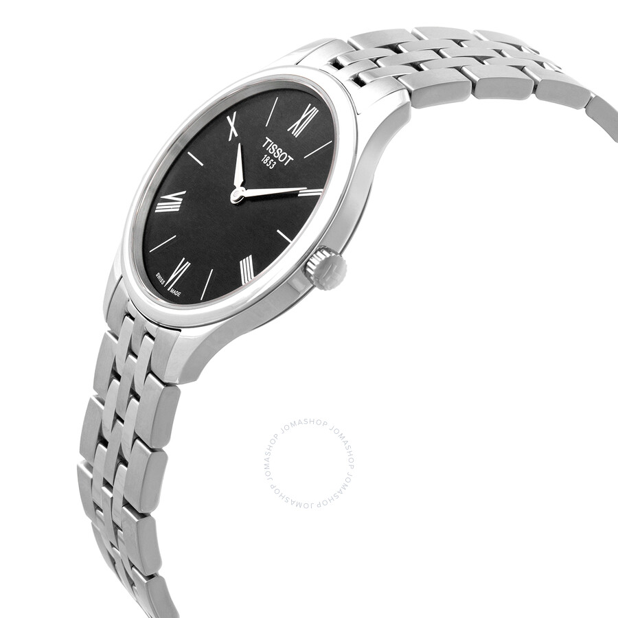 Tradition 5.5 Quartz Black Dial Ladies Watch T063.209.11.058.00