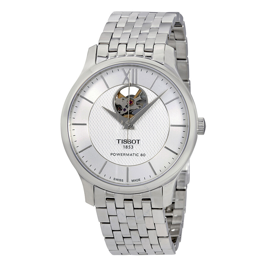 tissot tradition watches jomashop tissot tradition silver dial automatic men s watch
