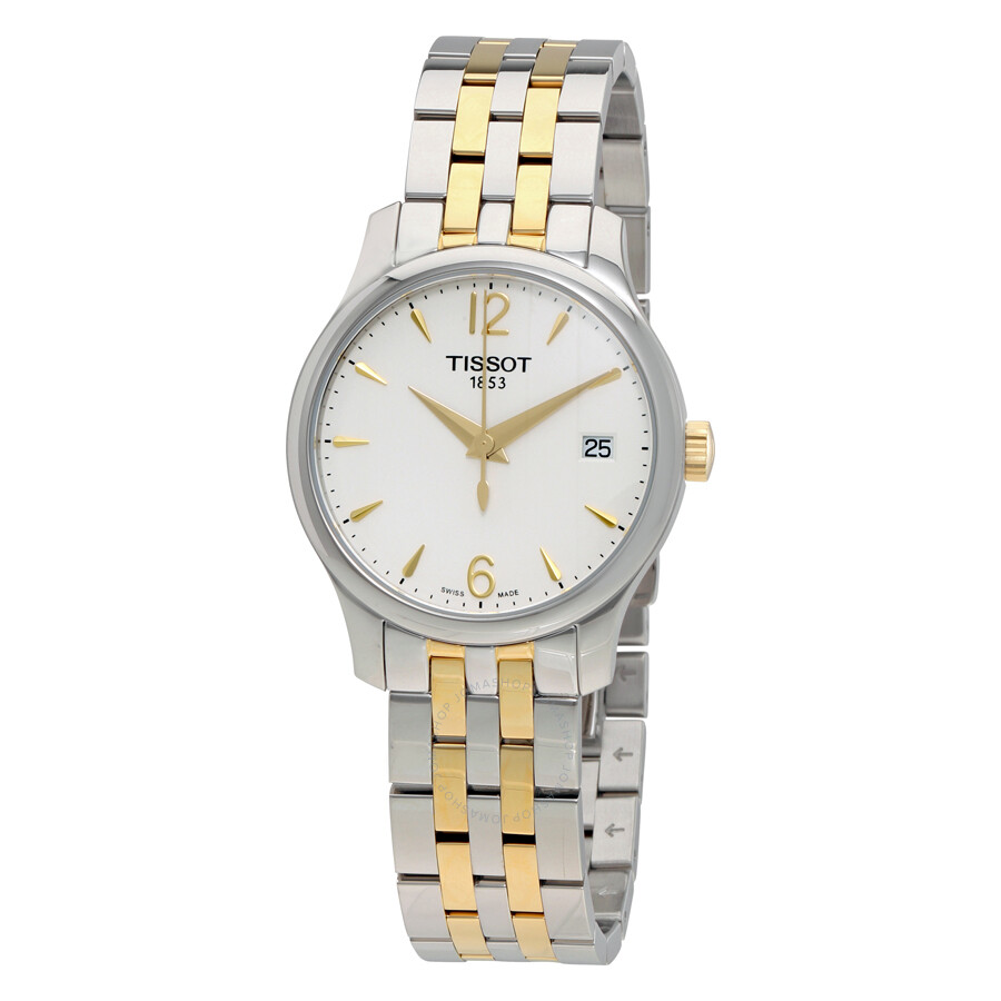 9b6efa302b0 Tissot Tradition White Dial Two-tone Stainless Steel Ladies Watch  T0632102203700 ...