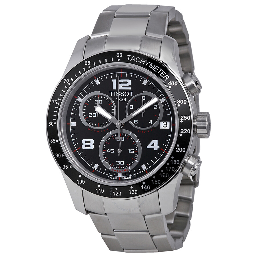 tissot v8 chronograph black dial men s watch t0394171105702 v8 tissot v8 chronograph black dial men s watch t0394171105702