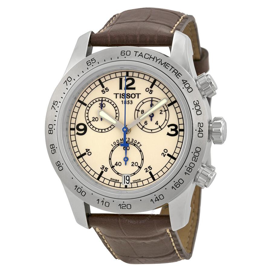f25c4ea82ff Tissot V8 Steel Chronograph Brown Men s Watch T36.1.316.72 - V8 - T ...