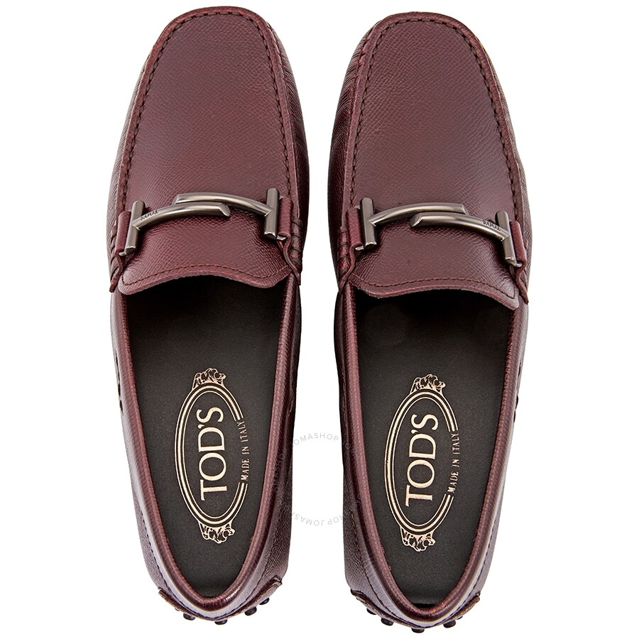 c0622aabc Tod's Doppia T City Gommino Loafers- Dark Red - Designer Footwear ...