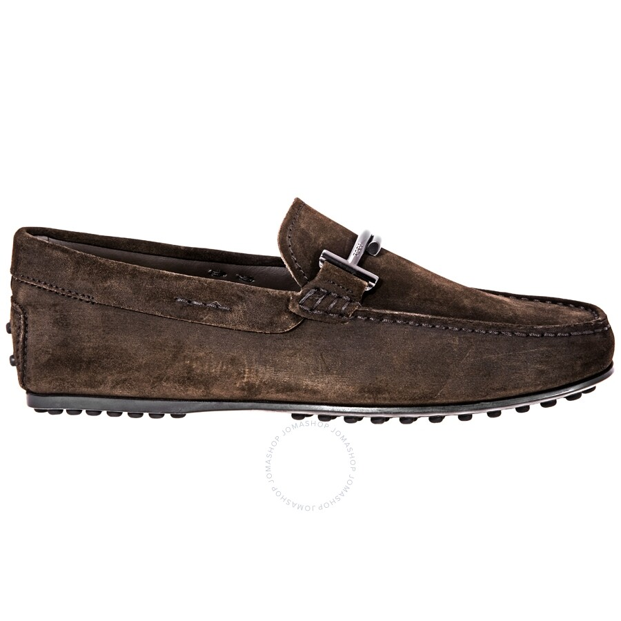 c3a1269e7a8 Tod s Doppia T City Gommino Suede Loafers- Brown XXM0LR0Q700RE0 ...