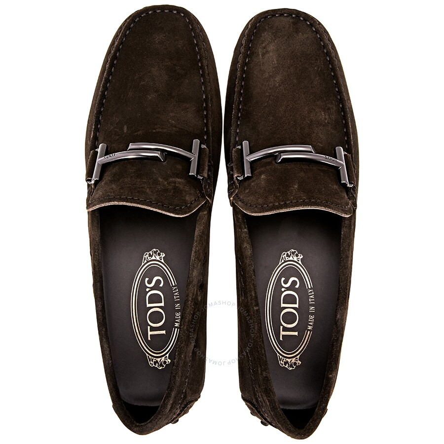 d3197defb22 ... Tod s Doppia T City Gommino Suede Loafers- Brown XXM0LR0Q700RE0 ...
