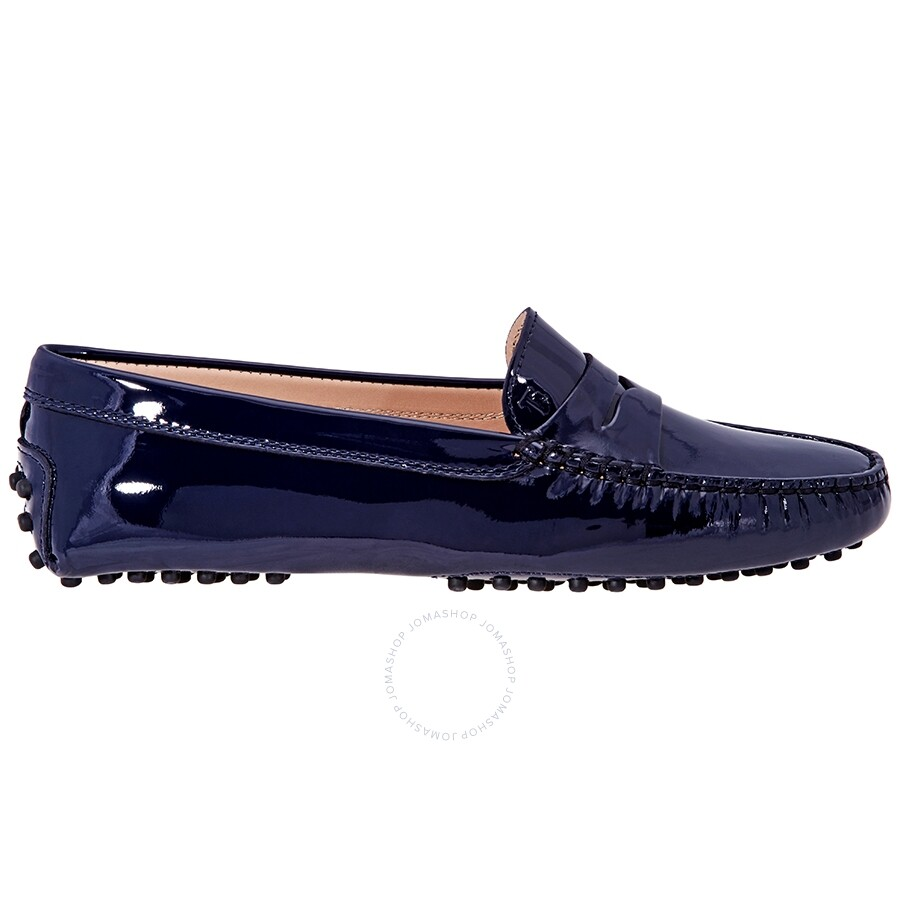 b7f6ab01f10 Tod's Gommino Leather Loafers - Blue XXW00G00010OW0 - Designer ...